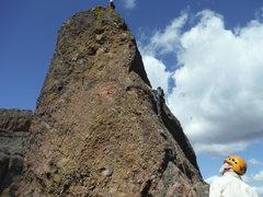 Rock Climbing Photo: Frank Baker on the 2nd Tower Machete Ridge