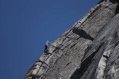 Rock Climbing Photo: Climber on the East Wall