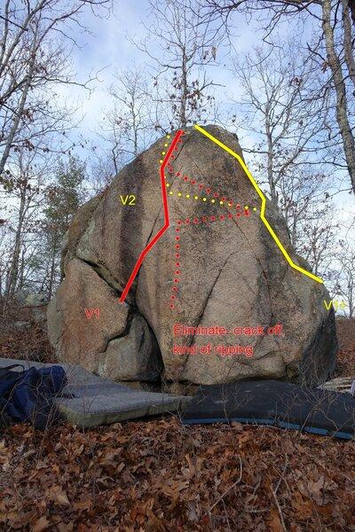 One of the ridge line boulders