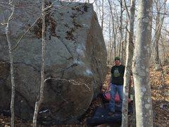 Rock Climbing Photo: Crimpology,V4, starts at the base of the crucible ...