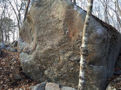 Rock Climbing Photo: The Mineral Boulder.  The right arete has a good s...
