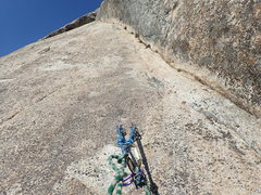 Rock Climbing Photo: Looking up P3 (or P4, depending on rope length).  ...