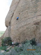 "Rock Climbing Photo: Pulling knobs and cobbles on P2 of ""Tex-Mex&q..."
