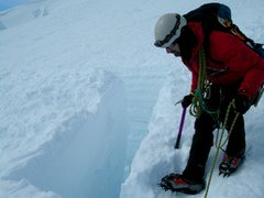 Rock Climbing Photo: The  late Paul Andrews on Emmons Glacier, Mount Ra...