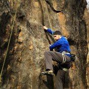 Rock Climbing Photo: Jeremy Abbott jamming to victory :)