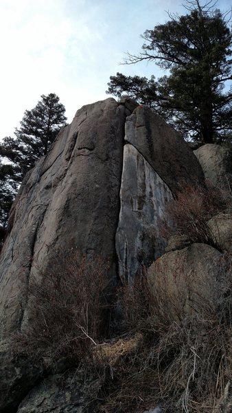 Rock Climbing Photo: Petrified Bat Shit at New Rock.