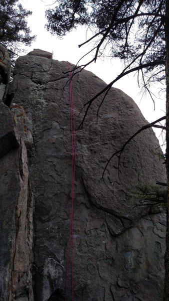 Cinnamon Bear, 5.10a Granite flake climb on Top Rope.