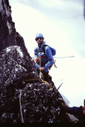 Rock Climbing Photo: [photo#8] Helmut Microys belays just before the ho...