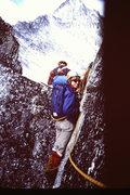 Rock Climbing Photo: [photo#6] Mary-Jane Cross wonders where we are goi...