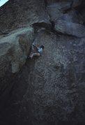 Rock Climbing Photo: Yabo soloing Spider Line.  Photo by John Bachar.