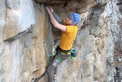 Rock Climbing Photo: Into the cool undercling crux of The Kunckler!