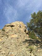 Rock Climbing Photo: 10a crack variation finish
