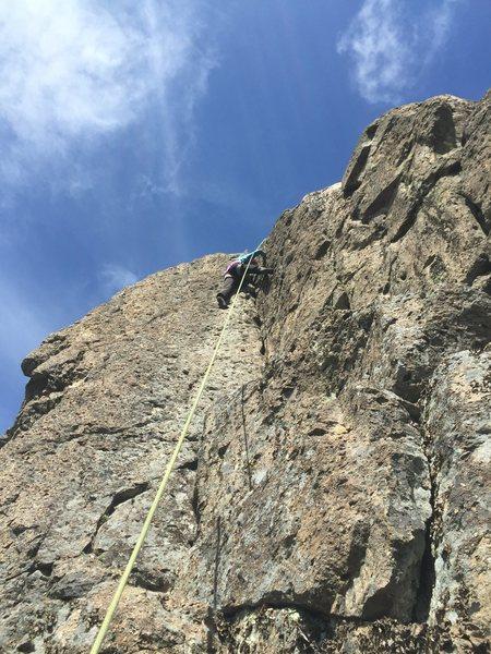 Rock Climbing Photo: Kathy on TR