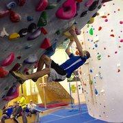 Rock Climbing Photo: Bouldering a V4 at Inner Peaks