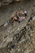 Rock Climbing Photo: last few moves of Dusk til Dawn