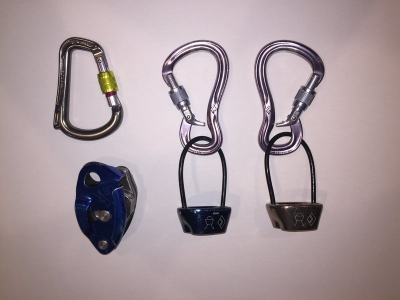 belay devices & carabiners