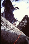 Rock Climbing Photo: Wearing the latest in safety headgear, M-J Cross c...