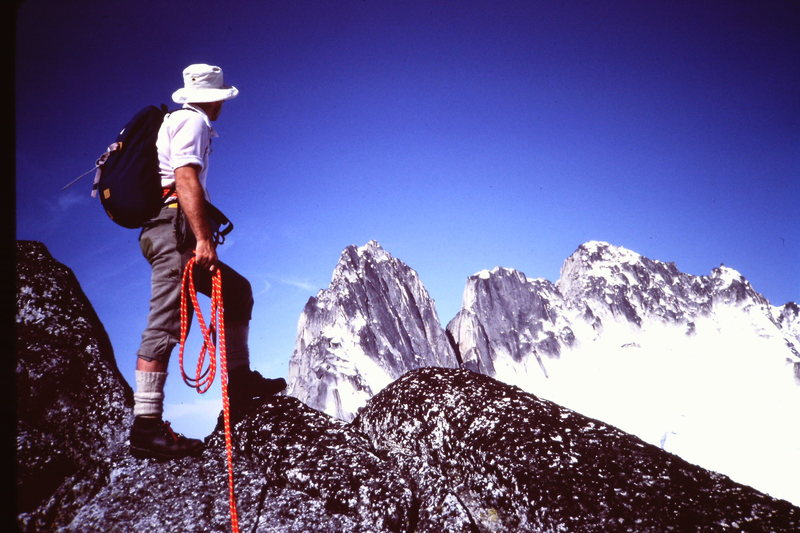 Kinda nice views along the ridge (Photo by Mary-Jane Cross, 1982)