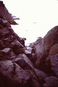Rock Climbing Photo: Looking down the 1st corner from the glacier (rope...