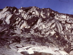 "Rock Climbing Photo: Cropped photo of ""Headwall above the snowpatc..."