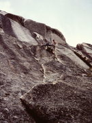 Rock Climbing Photo: A party ahead of us on the headwall (above the sno...