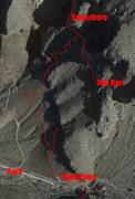 Rock Climbing Photo: Th Barr Approach