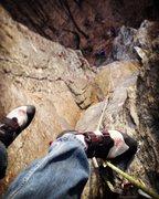 Rock Climbing Photo: Looking down the beautiful corner