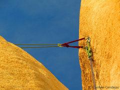 Rock Climbing Photo: Shared bolted anchor.