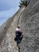 Rock Climbing Photo: Starting up the sweet handstacks.