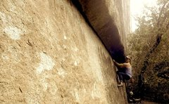Rock Climbing Photo: Fun burn.  Watch the trees where the crack widens ...