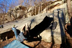 Rock Climbing Photo: Climber on the beginning moves of Your Body is a W...
