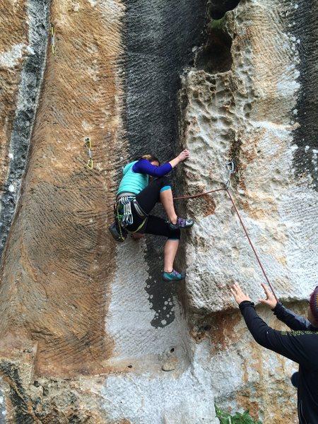 Climbing at Zichron Ya'acov, Israel