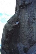 Rock Climbing Photo: Yabo solo on Spider Line.  Photo by John Bachar.