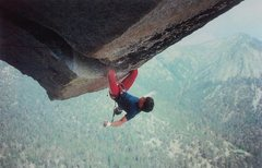 Rock Climbing Photo: Randy Leavitt on the Paisano Overhang (5.12c), Sui...