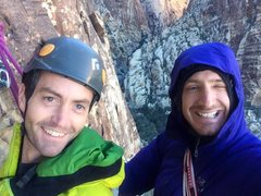 Rock Climbing Photo: Ted and I in Red Rocks