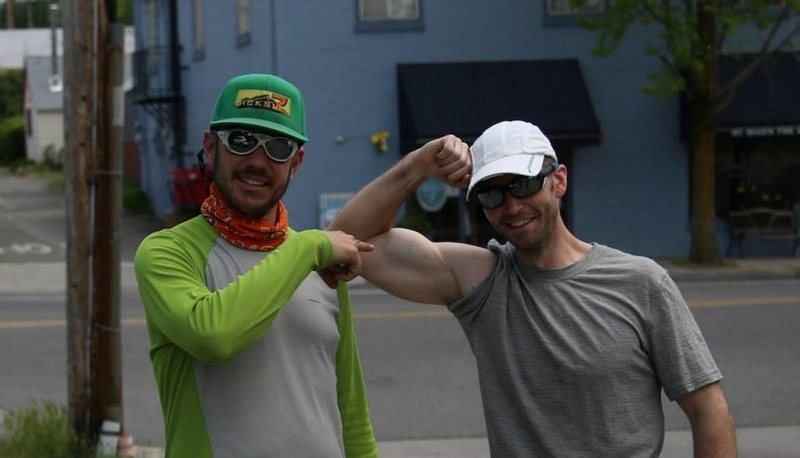 Rock Climbing Photo: Tommy B and I pre-Shasta trip