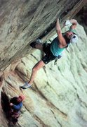 Rock Climbing Photo: Alan Lester on Anaconda (5.13c), Lumpy Ridge  Phot...