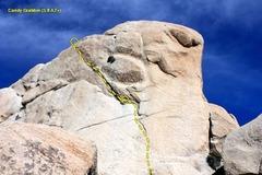 Rock Climbing Photo: Candy Grabber (5.8 A2+), Joshua Tree NP
