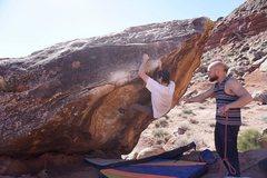 Rock Climbing Photo: The Swan (V7), Moe's Valley, UT