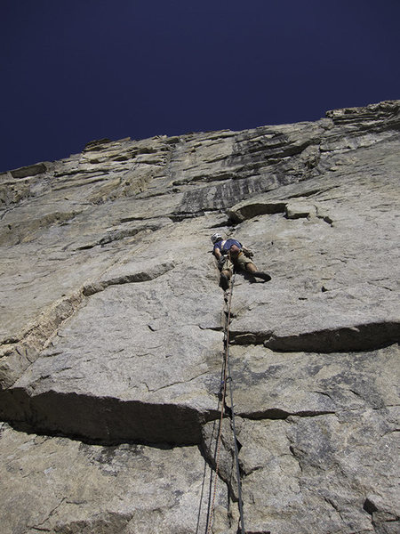 Rock Climbing Photo: Rich Farnham on the first pitch.