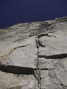 Rock Climbing Photo: Rich Farnham on the first pitch.