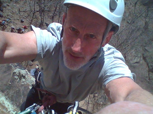 Rock Climbing Photo: At the anchors on Caesars Tossed Salad.