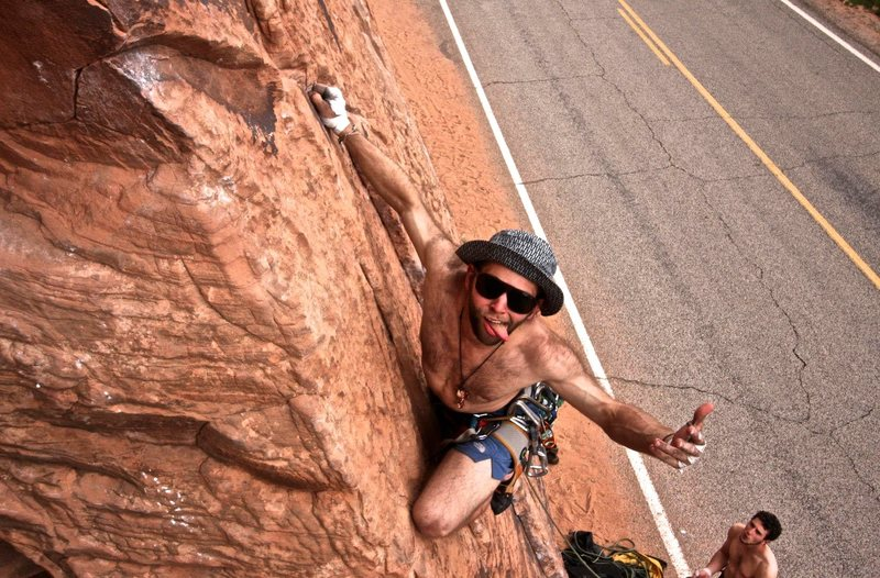 Rock Climbing Photo: Just some dirtbags climbing rocks
