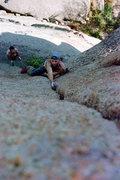 Rock Climbing Photo: Hand splitter swimmin' in Vedawuoo, WY