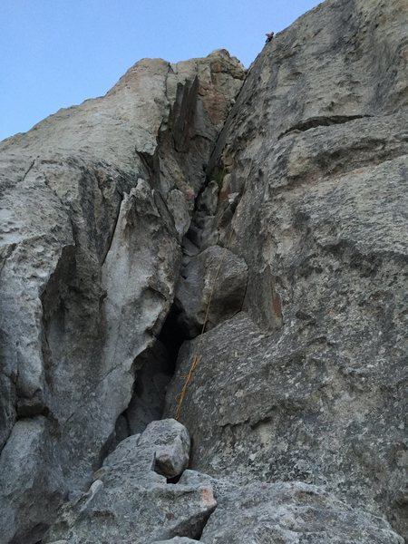 My first route in the City of Rocks, I forget the name right now.