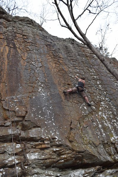 Rock Climbing Photo: Krista crushing Safety Goggle Sexy