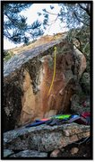 Rock Climbing Photo: Haunted Harmony problem beta.