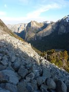 Rock Climbing Photo: Rock slide where you traverse to re-gain road.
