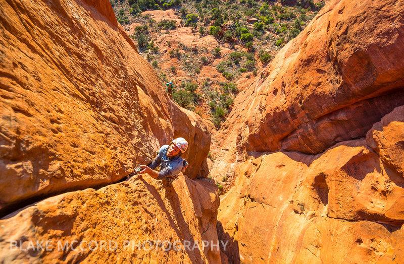 Rock Climbing Photo: Jeff Snyder on the third pitch  www.blakemccordpho...