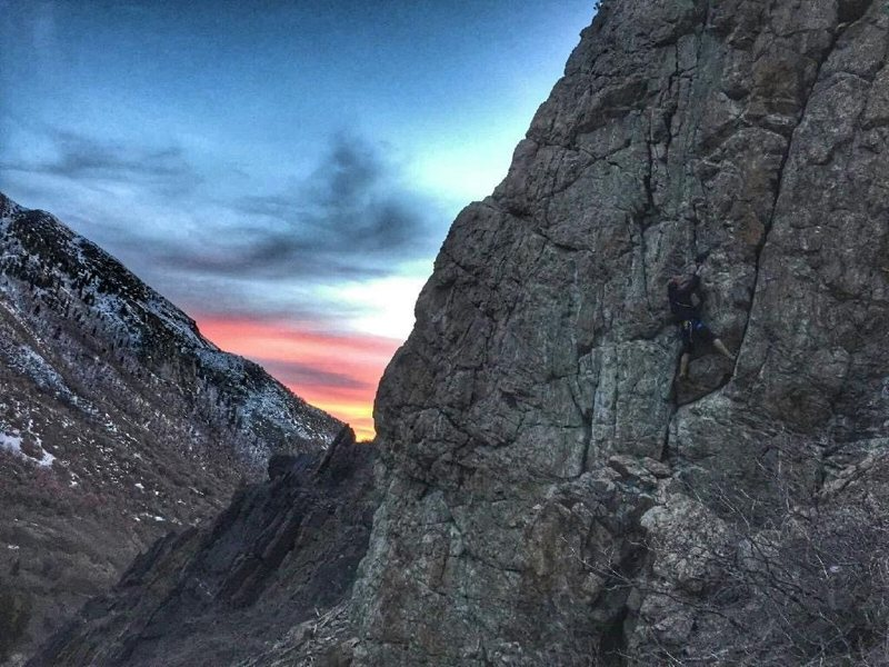 Jordan Traxioning up Double Standard at sunset.